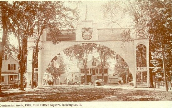Centennial Arch, 1902, Post Office Square, looking south.