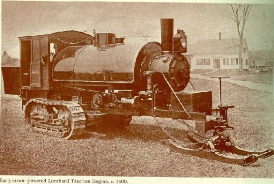 Early steam powered Traction Engine