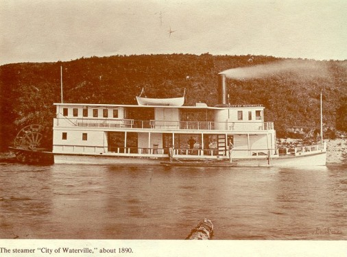 """The steamer, """"City of Waterville,"""" about 1890."""