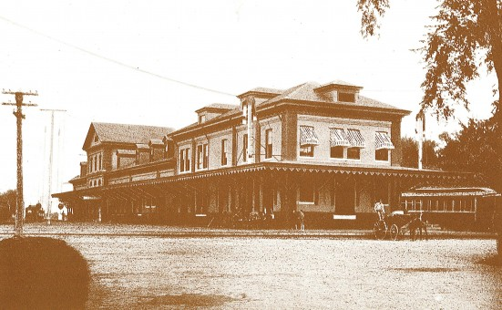 Maine Central Railroad Depot, off College Ave looking north, c.1905