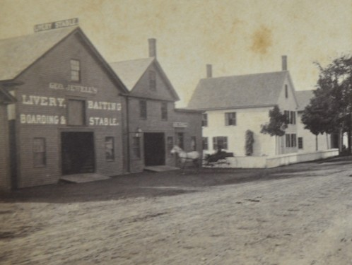 Geo. Jewell's Livery Stable, approx. 1870-1875