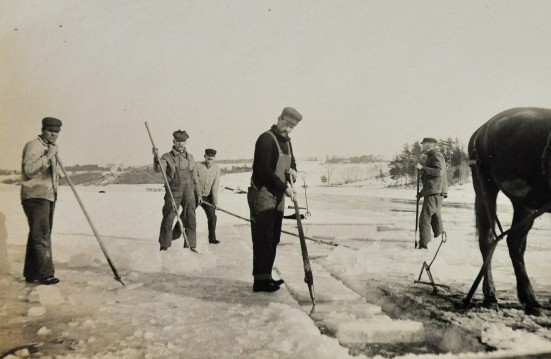 Harvesting ice, approx. 1870-1875.