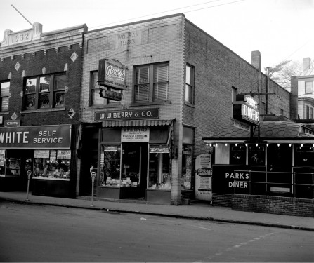 W.W. Berry & Co. and Parks Diner, late 1940's