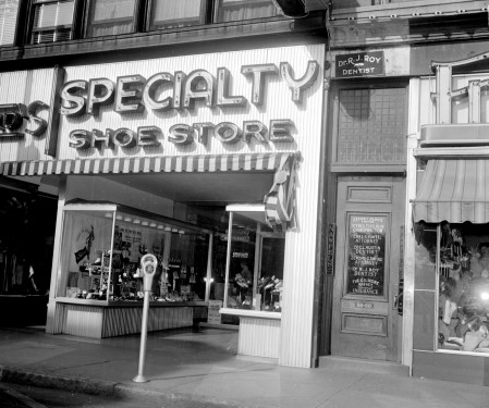 Specialty Shoe Store, possibly Simpson & LaChance Shoe Store, Main Street