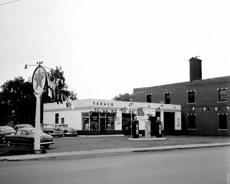 Texaco Station that used to be next to Central Fire Station, where the new station is located now.