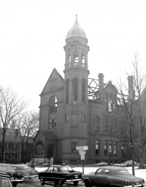 This photo is believed to be the Coburn Classical Instiute which burned in Feb. 1955. FMI: www.water