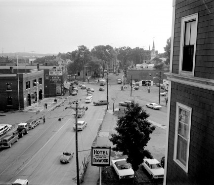 The Elmwood Hotel overlooking Central Fire, facing Main Street.
