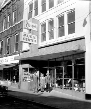 Al Corey's Music Store, 1950's. FMI: www.watervillemainstreet.org/historicwalk.php