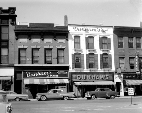 Dunham's of Maine, late 1950's. FMI: www.watervillemainstreet.org/historicwalk.php
