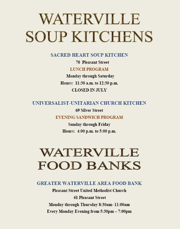 Food Banks In Waterville Maine