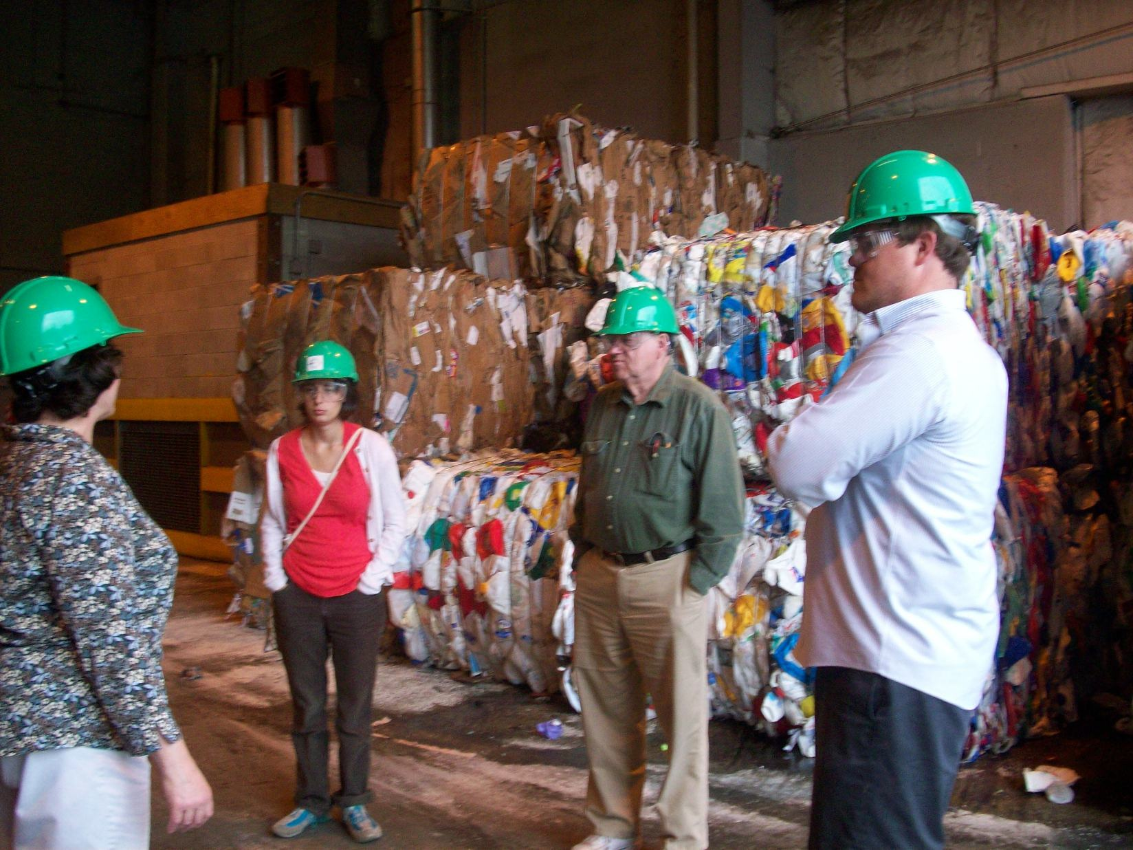 Waste Committee members visiting EcoMaine in Portland
