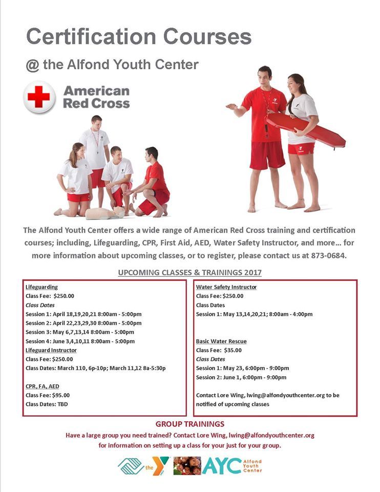 lifeguard certification course - city of waterville, maine